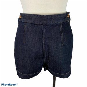 DIESEL High Waisted Denim Dark Wash Shorts NWT